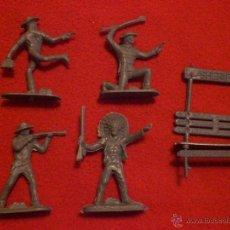 Figuras de Goma y PVC: FIGURAS DE PLASTICO AÑOS 70 SHERIFF Y BANDIDOS. Lote 40917041