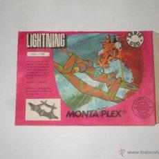 Figuras de Goma y PVC: MONTAPLEX - SOBRE VACIO! ESTADO IMPECABLE SE 600 AVIONES - Nº 606 - LIGHTNING. Lote 40948088