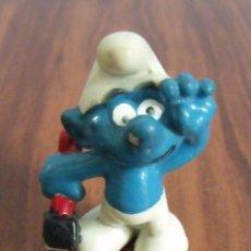 Figuras de Goma y PVC: FIGURA PVC GOMA DURA PITUFO MARTILLO (THE SMURFS). Lote 41256529