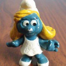 Figuras de Goma y PVC: FIGURA PVC GOMA DURA PITUFO PITUFINA (THE SMURFS). Lote 41256790