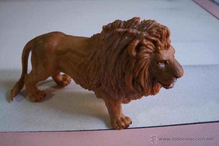 FIGURA LEON SCHLEICH EN PVC - BUEN ESTADO - (Juguetes - Figuras de Goma y Pvc - Schleich)