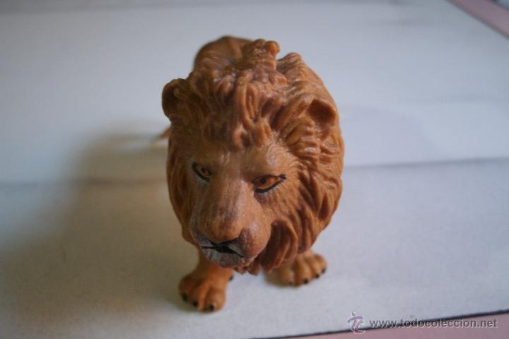 Figuras de Goma y PVC: FIGURA LEON SCHLEICH EN PVC - BUEN ESTADO - - Foto 3 - 41332085