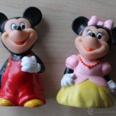 Figuras de Goma y PVC: SACAPUNTAS DISNEY. MICKEY MOUSE Y MINNIE MOUSE. AÑOS 90.. Lote 41354010