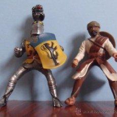 Figuras de Goma y PVC: LOTE 2 FIGURAS PVC GOMA DURA JINETES - SCHLEICH (CABALLERO Y MORO). Lote 41398152