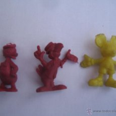 Figuras de Goma y PVC: LOTE 3 FIGURITAS CHICLES DUNKIN COLECCION DISNEY. Lote 41454351