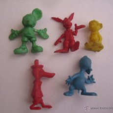 Figuras de Goma y PVC: LOTE 5 FIGURITAS CHICLES DUNKIN COLECCION DISNEY. Lote 41454370