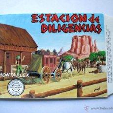Figuras de Goma y PVC: MONTAPLEX - SOBRE VACÍO Nº 460 ESTACIÓN DE DILIGENCIAS - NUEVO NUNCA RELLENADO - IMPECABLE!. Lote 223811017