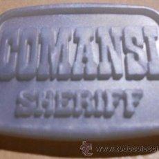 Figuras de Goma y PVC: PLACA SHERIFF COMANSI. Lote 42581705