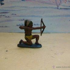 Figuras de Goma y PVC: FIGURA INDIO TEIXIDO DE GOMA - FIGURA GOMA TEIXIDOR - MODELO LAFREDO. Lote 42634475