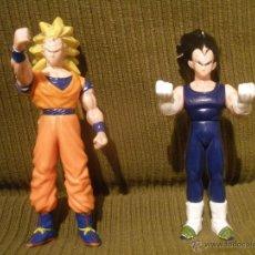 Figuras de Goma y PVC: DOS FIGURAS GOMA PVC DRAGON BALL Z, BOLA DE DRAGON,ARTICULADAS.1989.. Lote 42658332