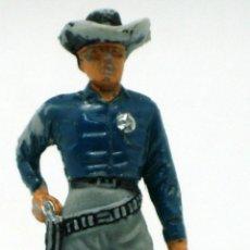 Figuras de Goma y PVC: VAQUERO SHERIFF JECSAN SERIE PALADINES DEL OESTE AÑOS 70 PLÁSTICO. Lote 42735868