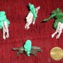 Figuras de Goma y PVC: LOS NIÑOS DE LOS 60-70 LOS LLAMABAN JICHOS-VAQUERO INDIO CABALLO DE GOMA DURA PLÁSTICO MINIATURAS . Lote 42824446