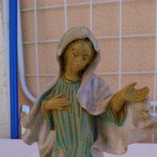 Figuras de Goma y PVC: PRECIOSA VIRGEN HECHA DE PVC BARTOLLINI ITALY. AÑOS 50/60. Lote 43167857