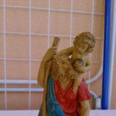 Figuras de Goma y PVC: FIGURA DE SAN CRISTOBAL CON EL NIÑO ,HECHA DE PVC BARTOLLINI ITALY. AÑOS 50/60. Lote 43167937