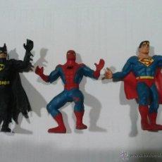 Figuras de Goma y PVC: SUPERMAN BATMAN Y SPIDERMAN . Lote 43210150