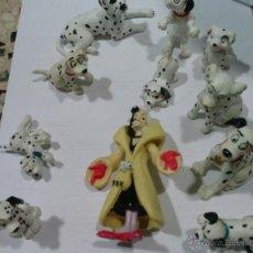 Figuras de Goma y PVC: LOTE DE LOS 101 DALMATAS Y LA BRUJA (LOS PERROS QUE SE VEN). Lote 43210289