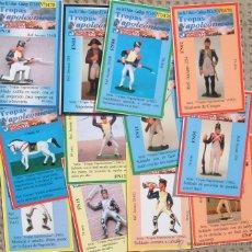 Figuras de Goma y PVC: FICHA-CROMOS ESPECIALES PARA COLECCIONISTAS DE SOLDADITOS DE GOMA JECSAN. SERIE TROPAS NAPOLEÓNICAS. Lote 260790535