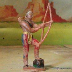 Figuras de Goma y PVC: FIGURA DE PLÁSTICO,INDIO EN PLASTICO. Lote 43424191