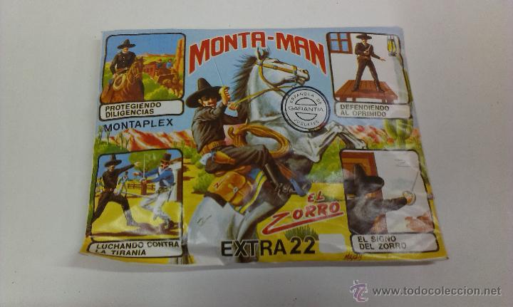 SOBRE MONTA / PLEX ( MONTA - MAN ) EL ZORRO EXTRA 22 (Juguetes - Figuras de Goma y Pvc - Montaplex)