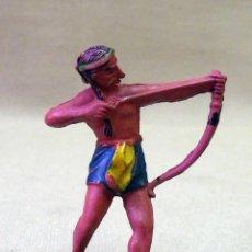 Figuras de Goma y PVC: FIGURA DE GOMA, INDIO, FABRICADO POR REAMSA, 1950S. Lote 43485596
