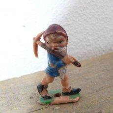 Figuras de Goma y PVC: MUY MUY RARA, NUNCA VISTA ! FIGURA ENANITO DE BLANCANIEVES EN PLASTICO DE PECH O JECSAN . Lote 43598756