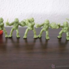 Figuras de Goma y PVC: LOTE DE TORTUGAS NINJA DUNKIN. Lote 62404626