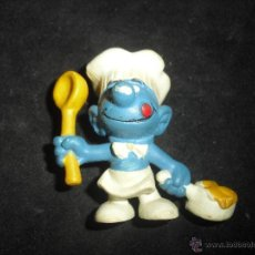 Figuras de Goma y PVC: FIGURA PITUFO COCINERO PVC. Lote 43812868