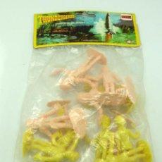 Figuras de Goma y PVC: 12 FIGURAS THUNDERBIRDS DE COMANSI GUARDIANES DEL ESPACIO AÑOS 80 EN BOLSA NUEVO. Lote 43859790