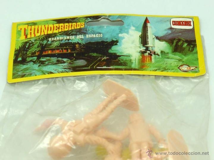 Figuras de Goma y PVC: 12 figuras Thunderbirds de Comansi Guardianes del Espacio años 80 en bolsa nuevo - Foto 2 - 43859790