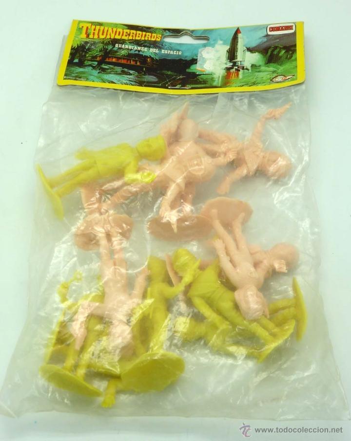 Figuras de Goma y PVC: 12 figuras Thunderbirds de Comansi Guardianes del Espacio años 80 en bolsa nuevo - Foto 3 - 43859790