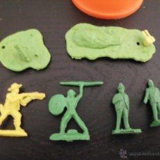 Figuras de Borracha e PVC: LOTE DE MUÑECOS DUNKIN MUÑECO INDIO PERSONAS VAQUERO VER FOTOS. Lote 43901088