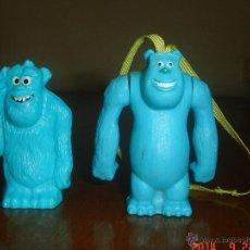 Figuras de Goma y PVC: 2 FIGURAS DIFERENTES DE SULLEY DE MONSTRUOS S. A. AMBAS DE PROMOCIÓN DE NESTLÉ. Lote 43962690