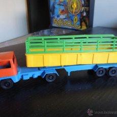 Figuras de Goma y PVC: CAMION TRAILER DE PLASTICO. Lote 44013983