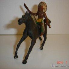 Figuras de Goma y PVC: JEFE INDIO Y CABALLO SOTORRES. Lote 44059810