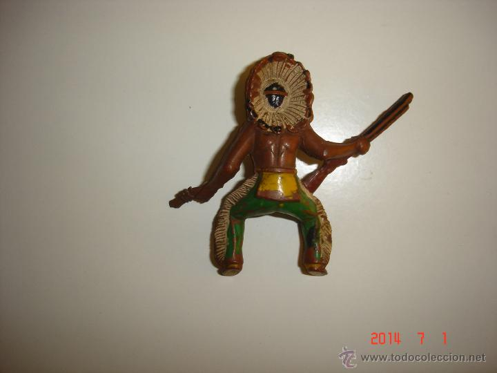 Figuras de Goma y PVC: JEFE INDIO Y CABALLO SOTORRES - Foto 4 - 44059810