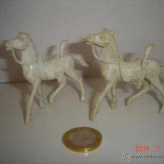 Figuras de Goma y PVC: LOTE DE TRES CABALLOS COMANSI. Lote 44088936