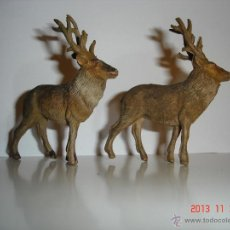 Figuras de Goma y PVC: DOS FIGURAS DE CIERVOS PECH. Lote 44120381