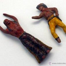 Figuras de Borracha e PVC: INDIO POSTE TORTURA Y VAQUERO SERIE 5,5 CM REAMSA GOMA AÑOS 50. Lote 44136908