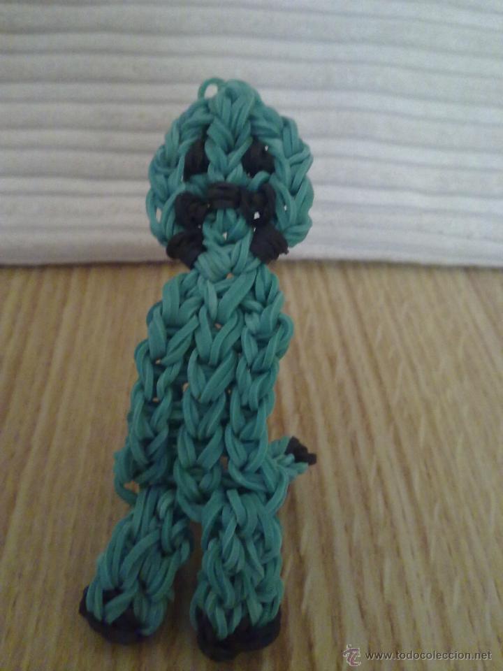 Creeper (minecraft) de gomitas - Rainbow Loom