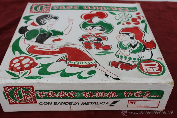 Figuras de Goma y PVC: VAJILLA ERASE UNA VEZ CON BANDEJA METALICA PSE IBI ALICANTE - Foto 4 - 44330381