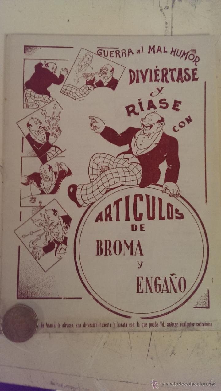 FOLLETO DE ARTICULOS DE BROMA AÑOS 50 (Juguetes - Figuras de Goma y Pvc - Pipero)