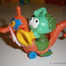 Figuras de Goma y PVC: FIGURA DE LOS SNORKELS TOOTER CON CABALLITO DE MAR.GUISVAL.1986.NUEVO. Lote 45962163