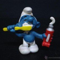 Figuras de Goma y PVC: FIGURA O MUÑECO GOMA PVC - PITUFO LAVANDOSE - W. GERMANY - PEYO - SCHLEICH - SMURFS, SCHTROUMPFS,. Lote 44786524