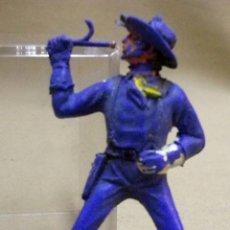 Figuras de Goma y PVC: FIGURA DE PLASTICO, FABRICADO POR JECSAN, SOLDADO YANKEE, TROMPETA, SEPTIMO CABALLERIA, 1970S. Lote 44821239