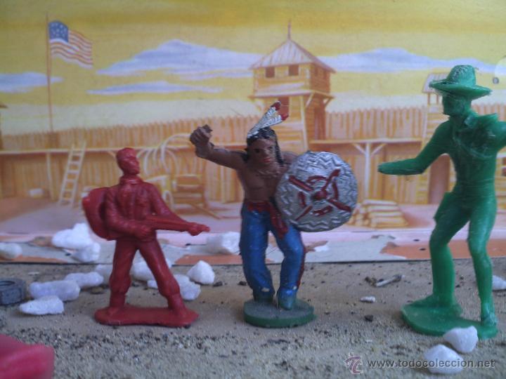 VAQUEROS Y INDIO PIPERO (Juguetes - Figuras de Goma y Pvc - Pipero)