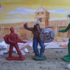 Figuras de Goma y PVC: VAQUEROS Y INDIO PIPERO. Lote 44832657