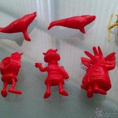 Figuras de Goma y PVC: LOTE DE 7 FIGURAS DUNKIN, SERIE VICKIE EL VIKINGO, VICKY, VIKY ORIGINALES BUEN ESTADO. 100 % ESPAÑA. Lote 44853577