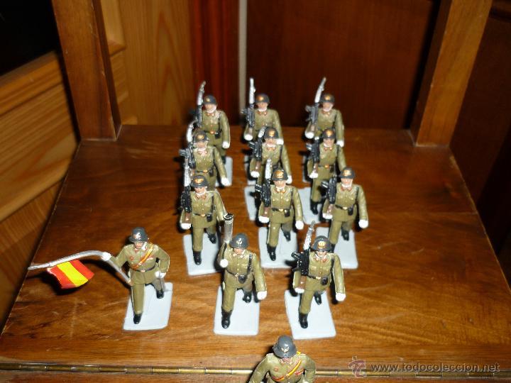 Figuras de Goma y PVC: SOLDIS DESFILES LA INFANTERIA ESPAÑOLA REAMSA SIN CAJA MUY BUEN ESTADO COMPLETOS - Foto 2 - 46240360