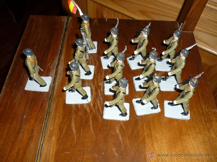 Figuras de Goma y PVC: SOLDIS DESFILES LA INFANTERIA ESPAÑOLA REAMSA SIN CAJA MUY BUEN ESTADO COMPLETOS - Foto 3 - 46240360