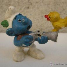 Figuras de Goma y PVC: PITUFO CAZADOR - FIGURA DE PVC.. Lote 44968930